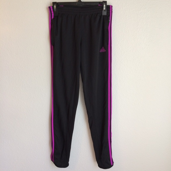 Adidas Black & Purple Climacool Track Pants
